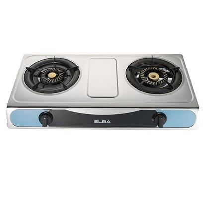Picture of ELBA DOUBLE BURNER GAS COOKER, EGS-F7112SS