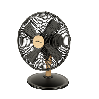 "Picture of MISTRAL 12"" TABLE FAN, WOODEN SERIES, MTF-1215M"